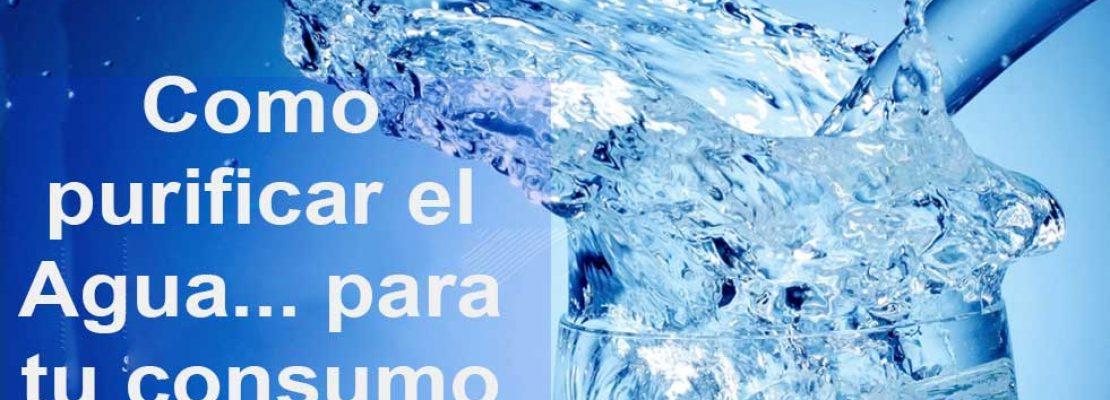 ¿cómo purificar el agua en casa?