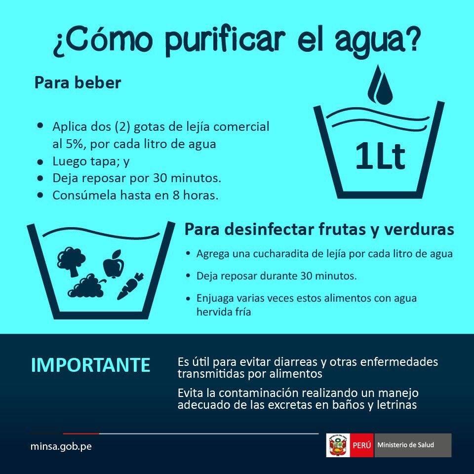 Como pirificar el agua para consumo humano